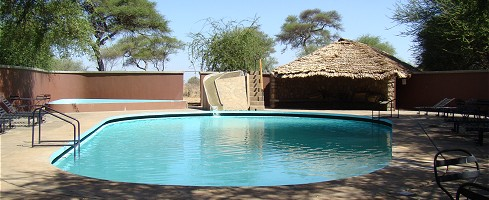 Swimmingpool på Tarangire Safari Lodge.