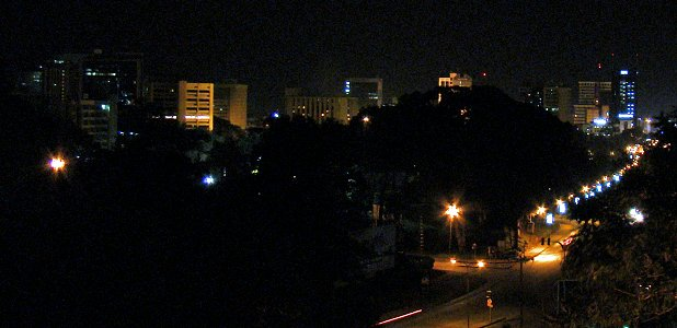 Nairobi by night.