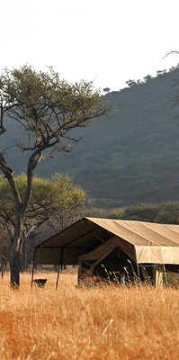 Kati Kati Tented Camp i Serengeti.